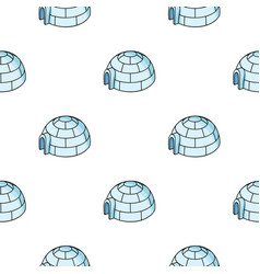 Igloo icon in cartoon style isolated on white vector