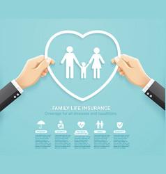 insurance policy services conceptual design vector image