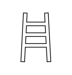 Ladder it is black icon vector