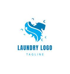 Laundry logo creative logo clothes logo symbol vector