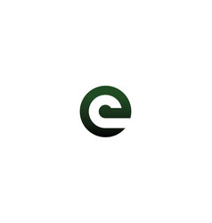 letter ec ce logo vector image