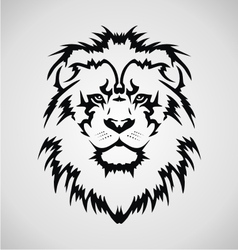 Lion Face Tribal vector