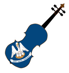 Louisiana state fiddle vector