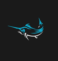 marlin fish logo fishing emblem vector image