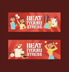 mental health disorders and work related stress vector image