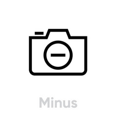minus icon editable outline vector image