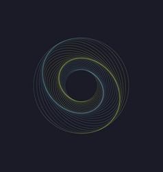 modern abstract swirl design vector image