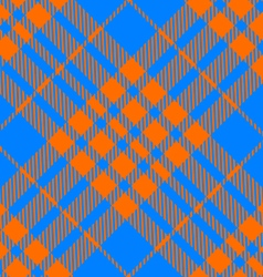 orange and blue tartan diagonal seamless vector image