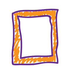Orange frame in a deliberately childish style vector