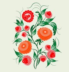 Ornament in the slavic folk style vector