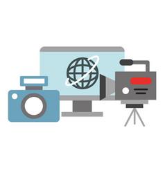 Photographic camera computer video recorder vector