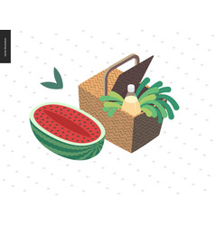 picnic image summer postcard vector image