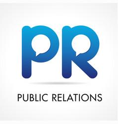 Public relations pr logo vector