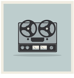 Retro background Open Reel Recorder vector