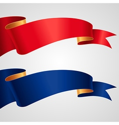 Ribbon redblue flag vector