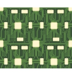 Seamless microchip industrial electronic circuit vector
