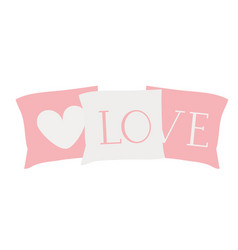 Set decorative pillows for bed vector
