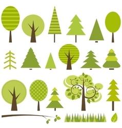 set green trees vector image