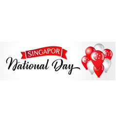 Singapore national day lettering vector