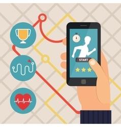 Sport fitness application Running app vector image