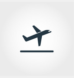 takeoff icon premium style design from airport vector image