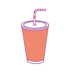 Tasty soda drink beverage vector