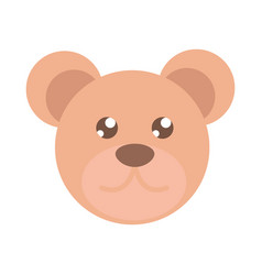 teddy bear face toy object for small children vector image