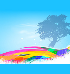 Tree forest silhouette scene vector