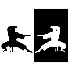 two karateka vector image