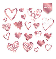 Valentine hearts on white background vector
