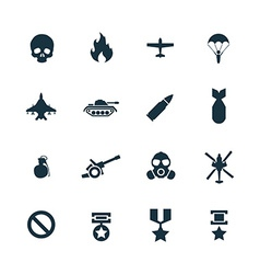 war icons set vector image vector image