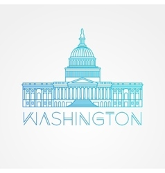 Washington dc us capitol building vector