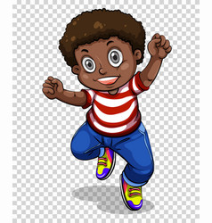african american boy jumping vector image