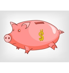 cartoons decoration piggy bank vector image vector image