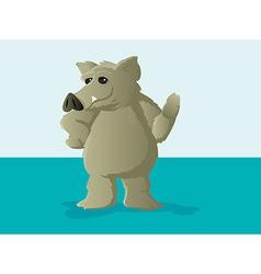 Cute Hog or Boar Mascot vector image vector image