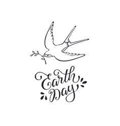 earth day wording vector image