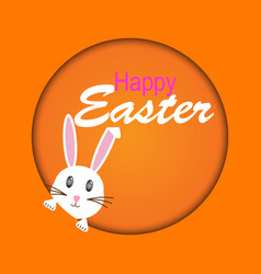 easter rabbit easter bunny vector image vector image