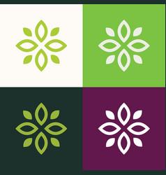 green flower logo vector image