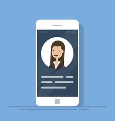 User contacts or profile card details on vector