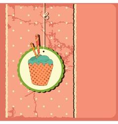 Cake vintage vector image vector image