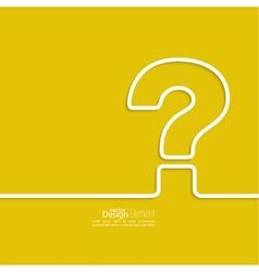 Question mark icon vector