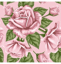 Seamless rose wallpaper vector image vector image