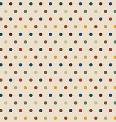 Stylish Polka Dots seamless background vector image vector image