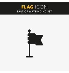 Flag icon Check mark vector image vector image
