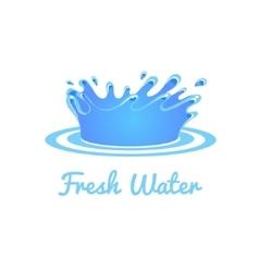 Fresh Water Splash Set vector image vector image