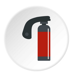 Gas cylinder icon circle vector