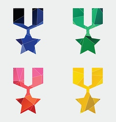 medal icon Abstract Triangle vector image