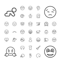 37 face icons vector
