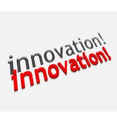 3d innovation text design vector