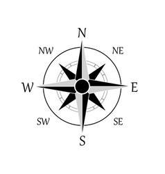 a compass rose icon eps 10 vector image